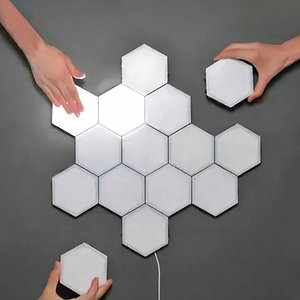 Modern LED Night Light Quantum Lamp Touch Sensitive Lighting Magnetic Hexagons Decoration Wall Lampara for Bedroom Bedside Lamp|LED Night Lights| |  -