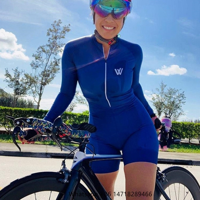 Vvsportsdes Bicycle cycling sportswear triathlon running cycling swimming jumpsuit bike skinsuit Female riding 4