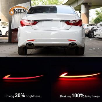 цена на 2Pcs For Hyundai Sonata 2011 2012 2013 2014 Led Rear Bumper Reflector Light Taillight Fog Lamp Braking Running Warning Lamp