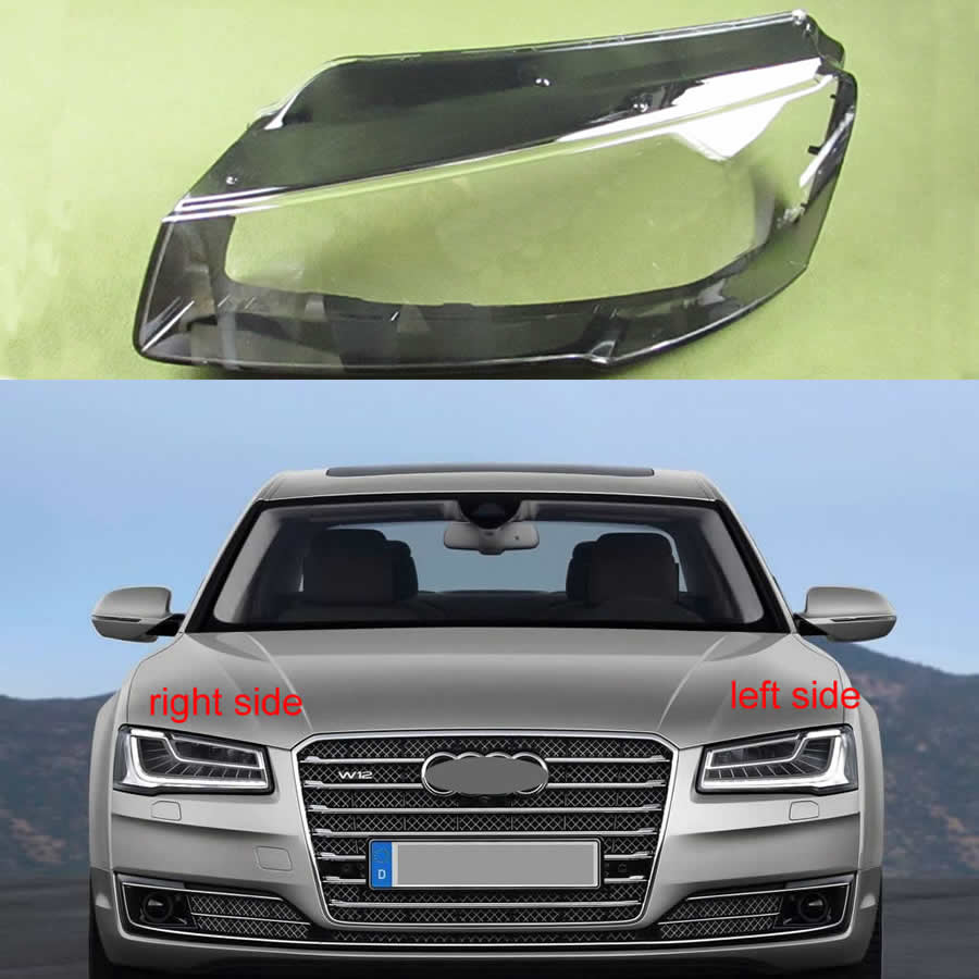 Sticker Decal for Audi A8 2017 xenon side front carbon light mirror bumper rear