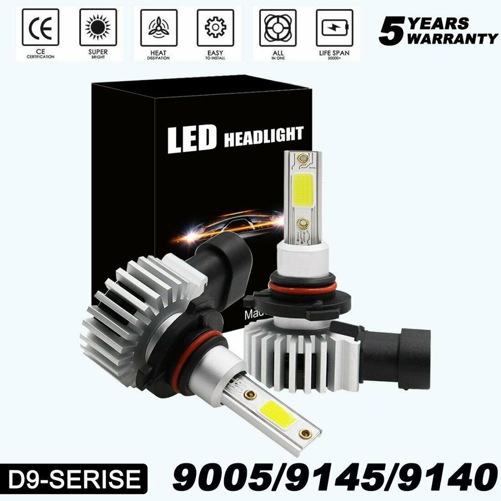 9005 (HB3) ультра мини светодиодные лампы для фар комплект все в одном для преобразования-9145 9140 H10 6000 лм 2020 K холодный белый Новый H7 H11 светодиод