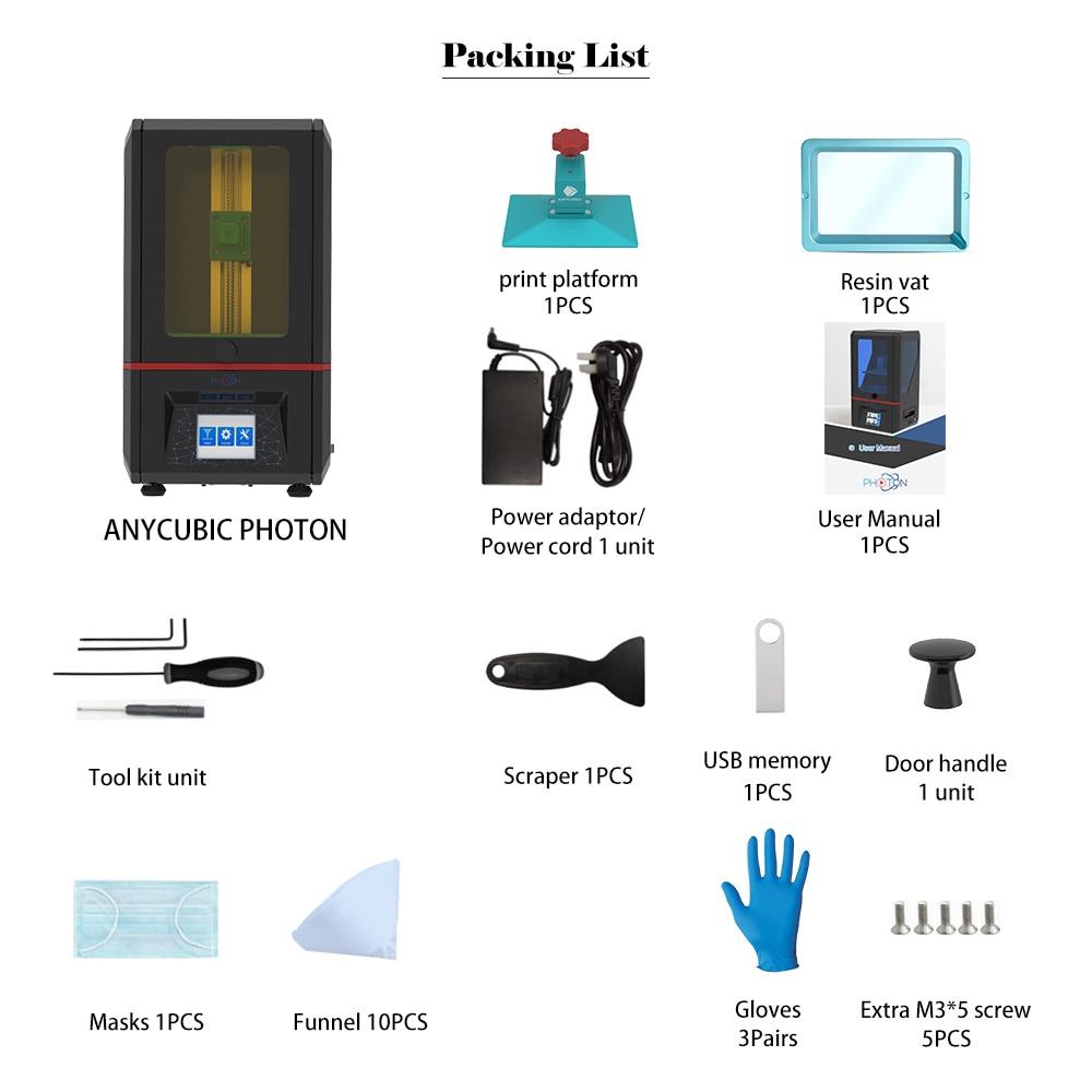 Image 5 - ANYCUBIC Фотон 3d принтер сенсорный ЖК экран UV LED конечная скорость ломтика плюс размер Настольный SLA 3d принтер комплект УФ Смола 3D Drucker3d printerdesktop 3d printer3d desktop printer  АлиЭкспресс