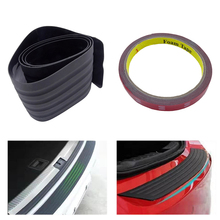 Rear Bumper Guard Rubber Mouldings Pad  Scuff Car Trunk Door Sill Plate Protector Trim Cover Strip Car Styling  Universal parachoques auto molding coche protector guard car styling bumper sticker car style styling mouldings 09 13 for audi a5