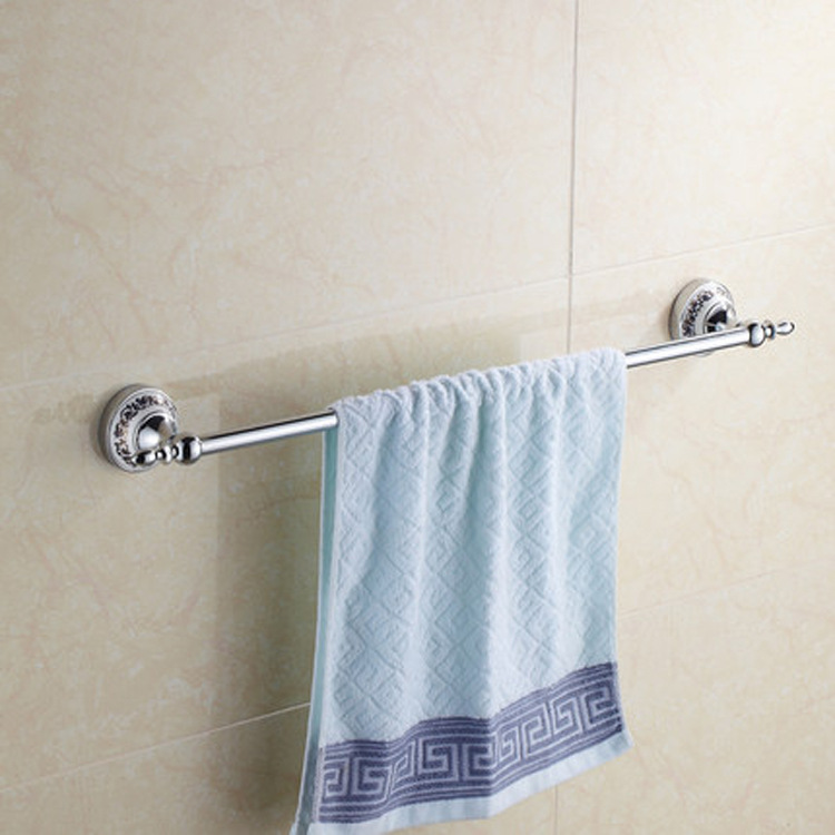 Shengruijia Blue And White Porcelain Single Pole Sanitary Ware Hardware Accessories Stainless Steel Towel Rack Manufacturers Dir
