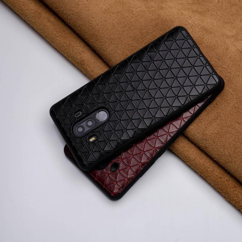 Étui pour huawei de téléphone en cuir véritable Mate 20 10 9 Pro P10 P20 Lite couverture de bord souple pour Honor 8X Max 9 10 Nova 3 3i Capa