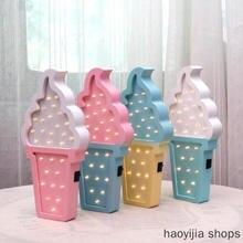 Новинка, подарок на день рождения, настольная лампа для детской комнаты, настольный макет, светодиодный ночной Светильник для мороженого, модный