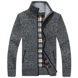 Wool Zipper Slim Fit Fleece Jacket Men Coat Dress Knitwear Male 2021 New Autumn Winter Jacket Men Warm Cashmere Casual