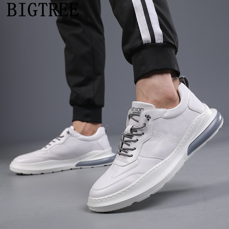 Mens Shoes Genuine Leather Sports Shoes For Male White Sneakers Men Designer Sneakers For Mens Casual Shoes Hot Sale Sepatu Pria