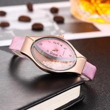 купить Lady Quicksand Rhinestone Oval Dial Faux Leather Strap Analog Quartz Wrist Watch Quartz Wristwatches Rhinestone Decor Oval Dial онлайн