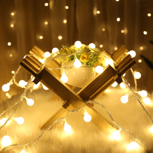 Led light string battery ball Christmas small lights decorative