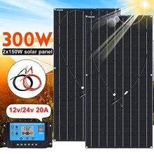 Гибкая солнечная панель батарея 300 Вт 150 модуль солнечной