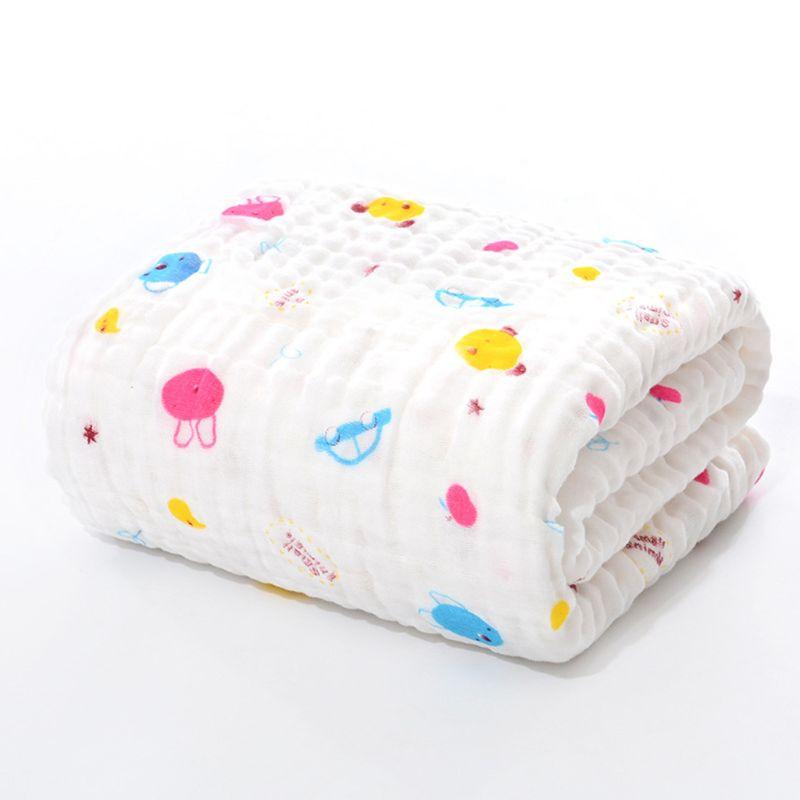 6 Layers Of Baby Washcloths Kids Bath Towel Muslin Cloth Bathrobe Wrap Blanket GXMB