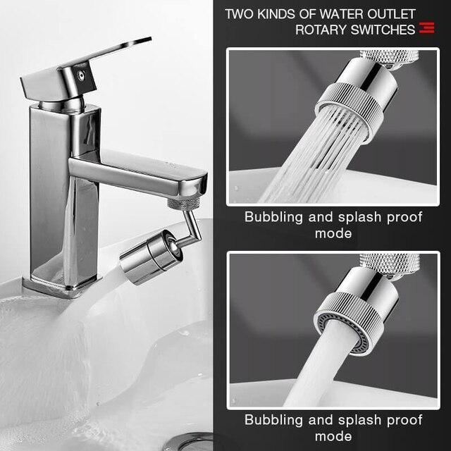 720°Universal Splash Filter Faucet Spray Head Anti Splash Filter Faucet Children Movable Kitchen Tap Water Saving Nozzle Sprayer 5