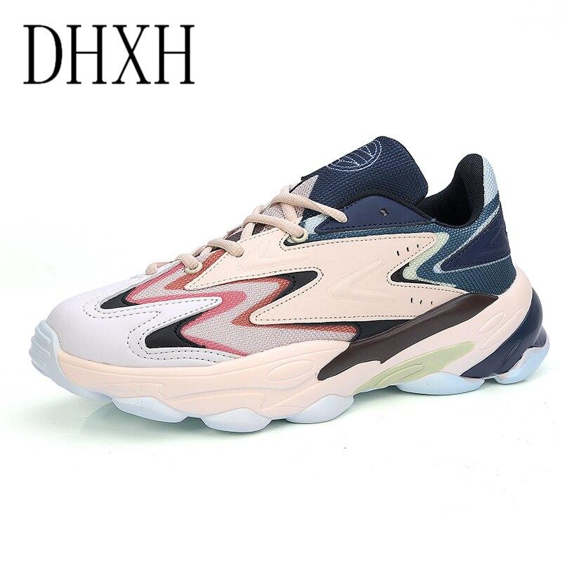 DHXH мужские кроссовки с амортизацией, Мужская дышащая повседневная обувь, мужская обувь на шнуровке|Кроссовки и кеды|   | АлиЭкспресс
