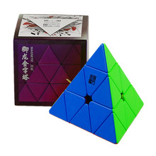 Pyramid Speed-Cubes Cube-Stickerless Magnets Yj Yulong Magic Triangle Puzzle Kids V2M