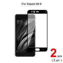2 шт для xiaomi mi 6 стекло полное покрытие закаленное Защита