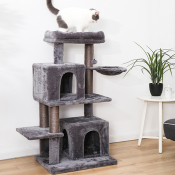 Cat Tree House Cat Window Luxury Kitten Jumping Bed House Scratching Post For Cat Funny Hanging Ball Kitten Toy Kitten Furniture фото