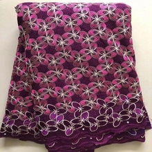 2021 Newest Quality Nigerian 100% Cotton  Fabrics For Party Dress African Wrap Printed Materials 5Yards