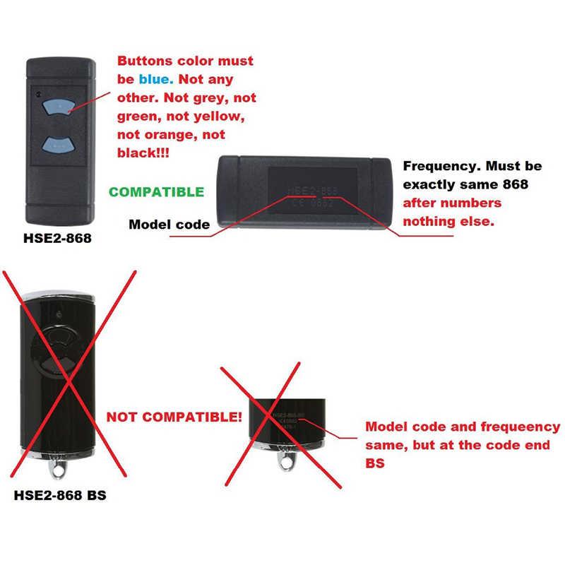 Clone Hormann 868 HSM2 HSM4 Hs1 HS2 Hs4 Hse2 Hse4 Remote Control Pintu Garasi Pembuka Hormann 868 MHz Gerbang Gantungan Kunci untuk Garasi
