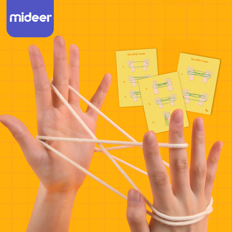 String Game Cards Set Montessori Materials Cat's Cradle Kids Learning Educational Toys For Children MiDeer Rope Hand Finger Game
