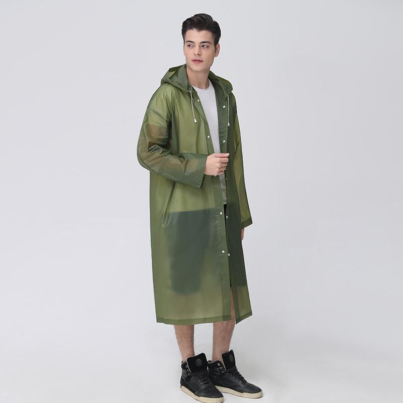 Waterproof Thickened EVA Translucent Men Raincoat Outdoor Travel Camping Hiking Raincoat Reusable Universal Rainwear 10 Colors