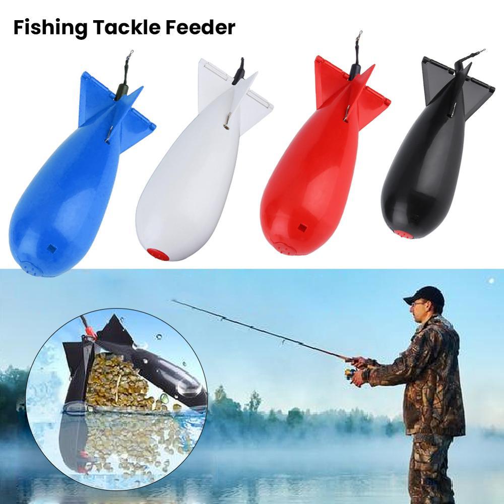 2Pcs Fishing Large Rockets Spod Bomb Fishing Tackle Feeders Pellet Rocket Feeder Float Bait Holder Maker Tackle Tool Accessories