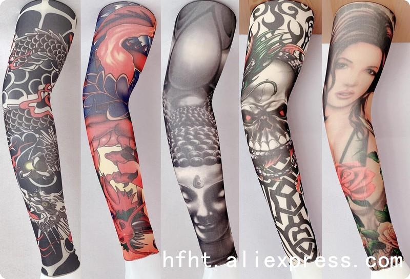Chinese Dragon Totem Artificial TTattoo Sleeve (Seamed), Removable Arm Warmers Tattoo Sleeve,Length 47CM, HT001-005