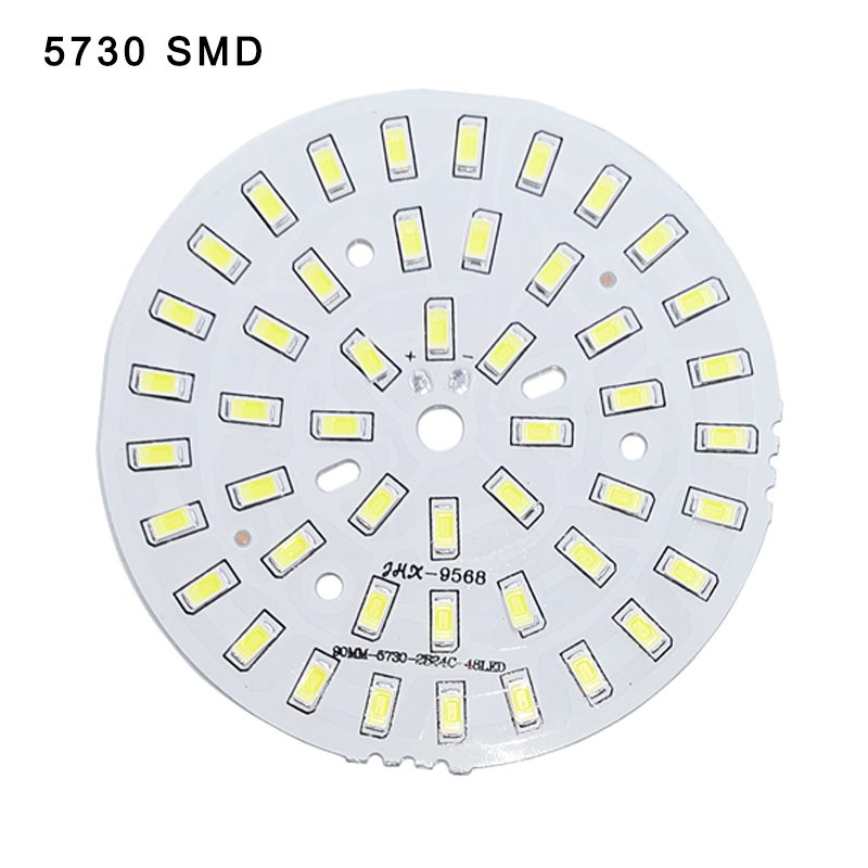 10pcs/lot 3W 7W 12W 18W 24W 36W 5730 Brightness SMD Light Board Led Lamp Panel For Ceiling PCB With LED Downlight