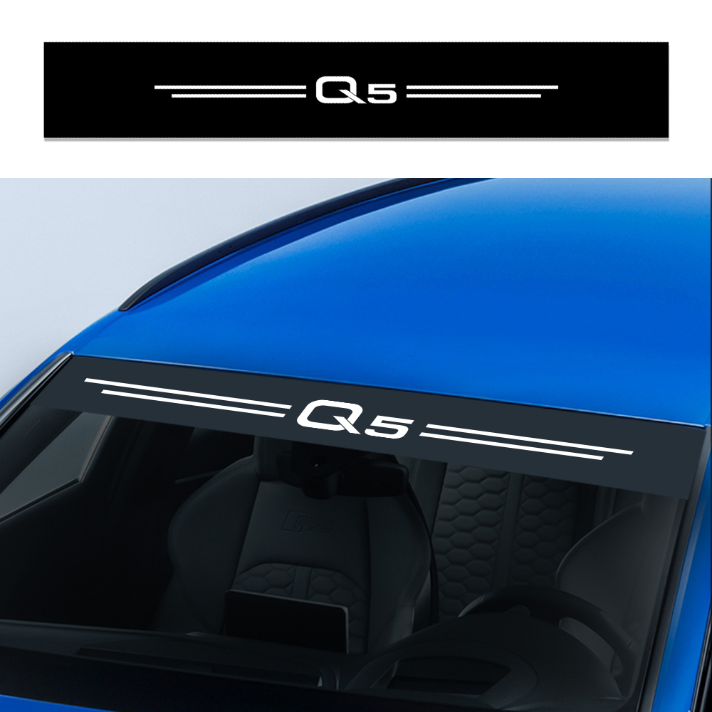 For Audi Q5 Car Stickers Auto Front Rear Windshield Decals Reflective Vinyl Film Decoration Automobile Car Tuning Accessories Car Stickers     - title=