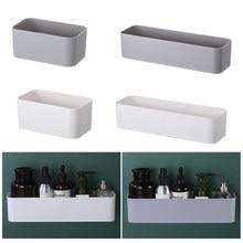 Wand Montiert Kosmetische Lagerung Box Bad Lagerung Rack Wand Regal Klebstoff Aufhänger Organizer Fernbedienung Halter Home Decor