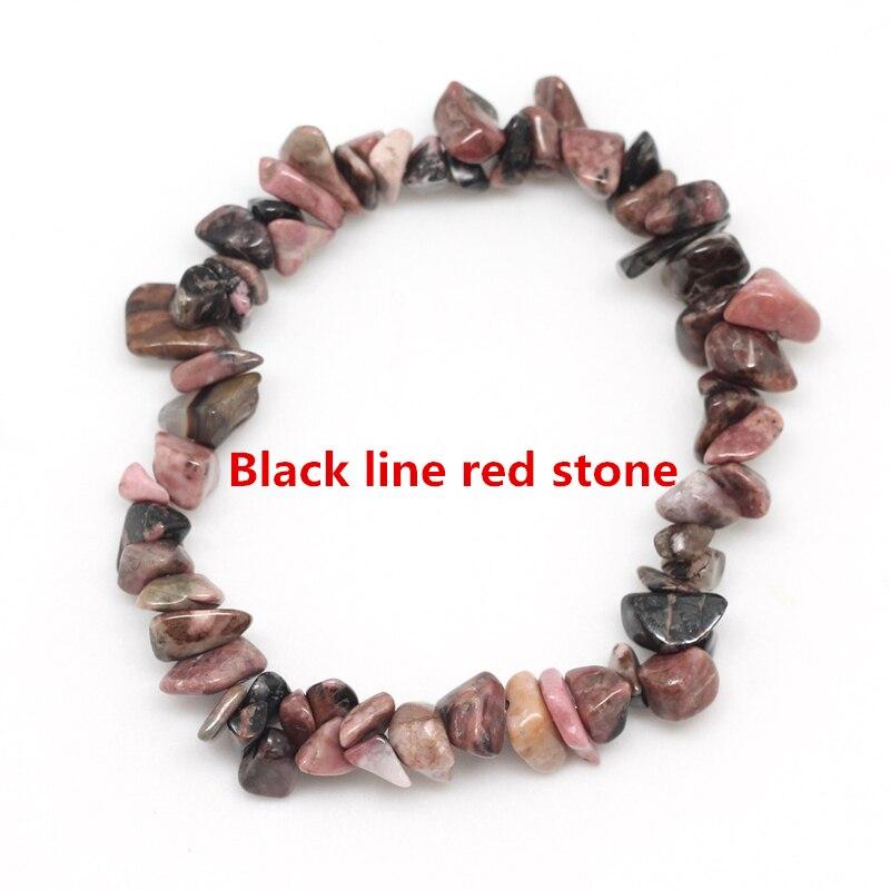 Black line red stone