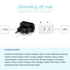 Image 5 - 2 sztuk US do ue wtyczki Adapter stany zjednoczone, wszystkie szpitale w europr Adapter konwerter Adapter podróżny USA do ue konwerter gniazdo elektryczne