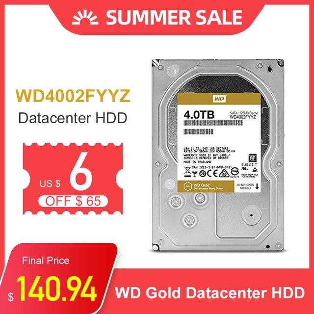 "Disco Duro WD Gold 4TB, disco duro interno de 3,5 "", 7200RPM, 128M, caché SATA III de 6 Gb/s, 4tb HDD, disco duro HD para ordenador de escritorio"