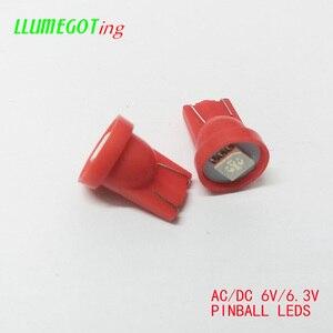 Image 3 - 100pcs 194 T10 #555 טרז בסיס 1SMD 5050 6.3V AC אין קוטביות שונים צבע זמין עבור Bally פינבול משחק מכונת מנורת נורות