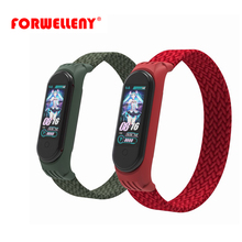 Forwelleny For Xiaomi Band 5 4 3 Nylon Solo Loop Braided Strap Accessories