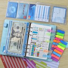2021 planejador recarga de papel a6 6 buraco binder notebook recargas para 6 anel recarregável binder organizer diário com bolsos