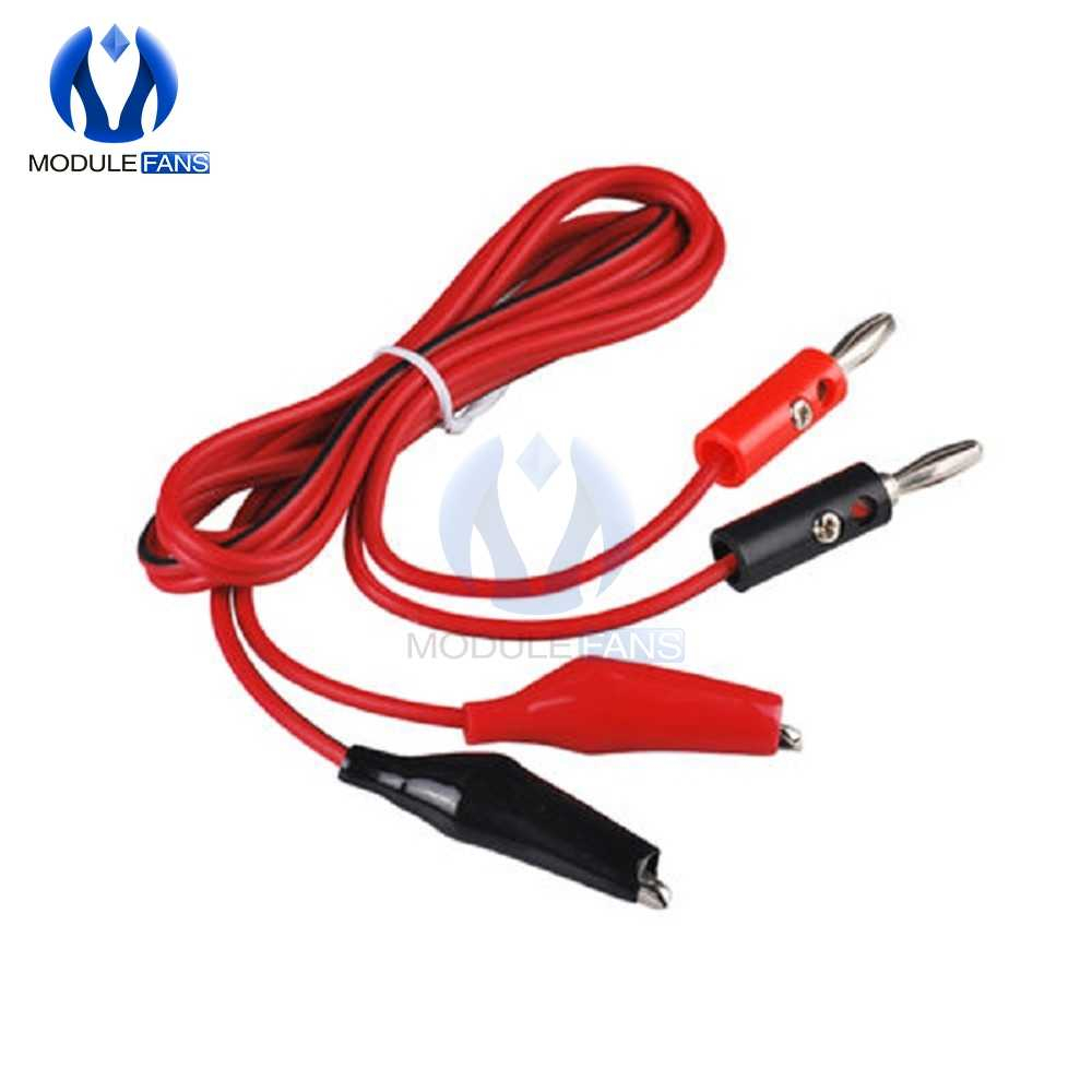 Alligator Test Lead Clip To AV Banana Plug Connector TO Dual Tester Alligator Clip Probe Cable 1M