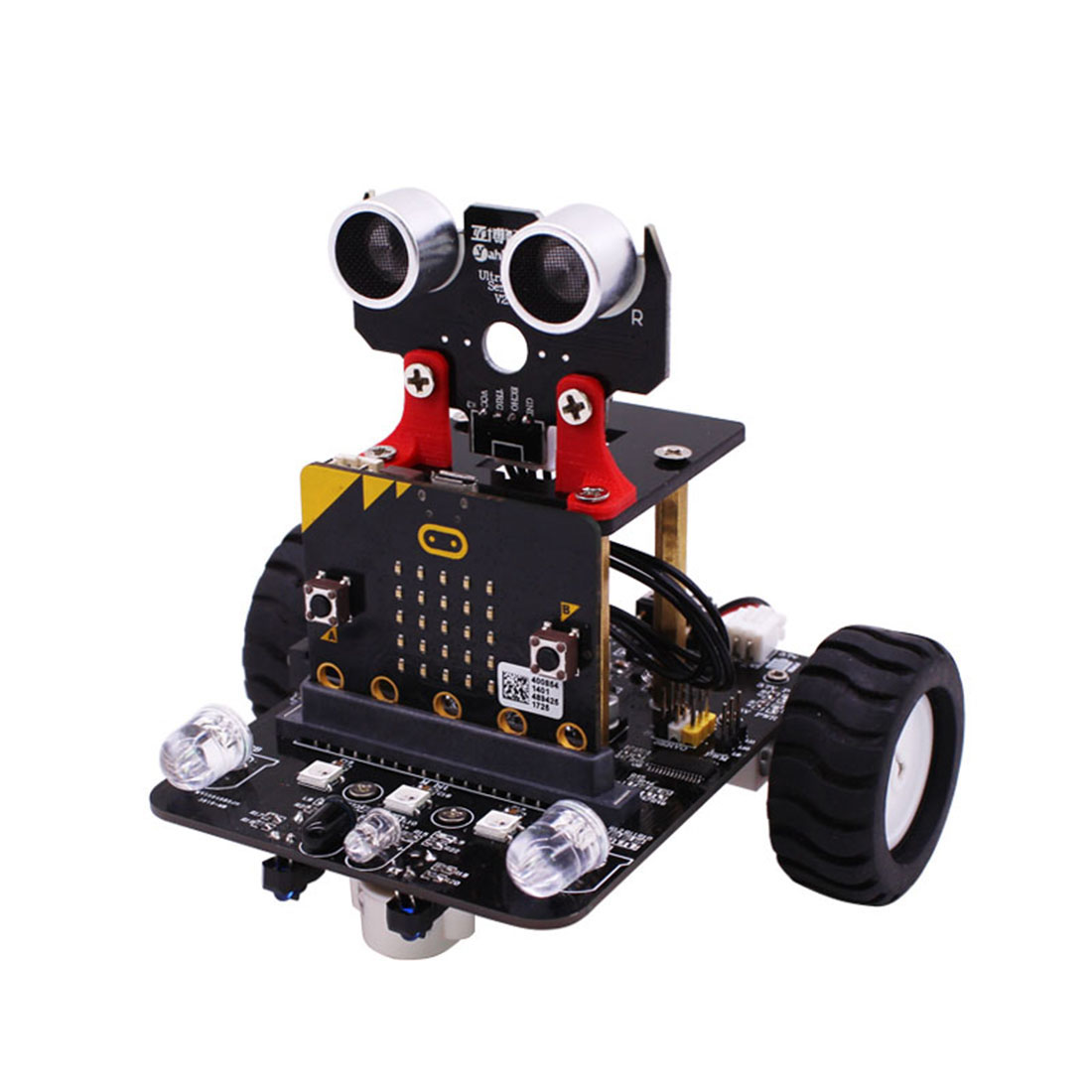 Graphical Programmable Robot Car With Bluetooth IR And Tracking Module Stem Steam Robot Car Toy For Micro:bit(Without Mainboard)