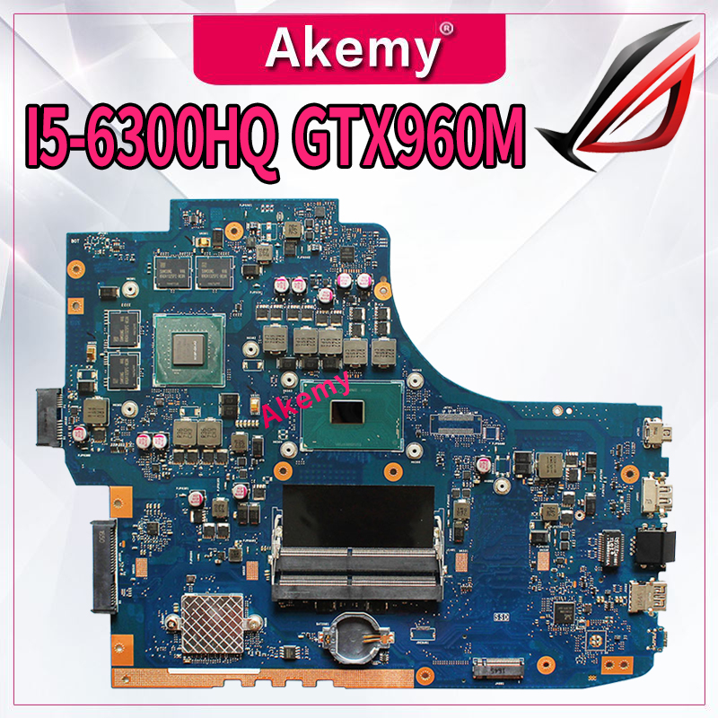Laptop motherboard para ASUS ROG GL752VW mainboard original HM170 I5-6300HQ GTX960M