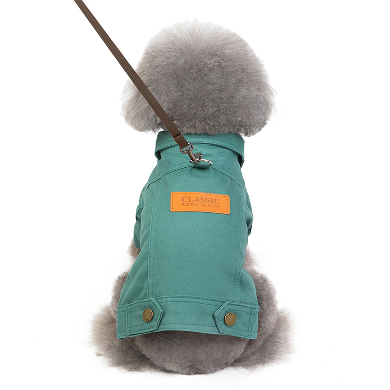 Fashionable Denim Dog Jacket for Small/Medium Dogs to Protect Dogs from Cold 3