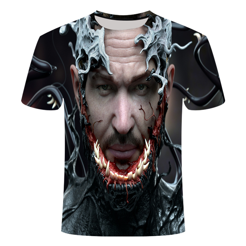 "Новинка, Мужская Футболка Venom, футболка ""Марвел"", 3D принт, футболка s, мужская, женская, Повседневная футболка, футболка для фитнеса, футболки, топы - Цвет: TX-037"