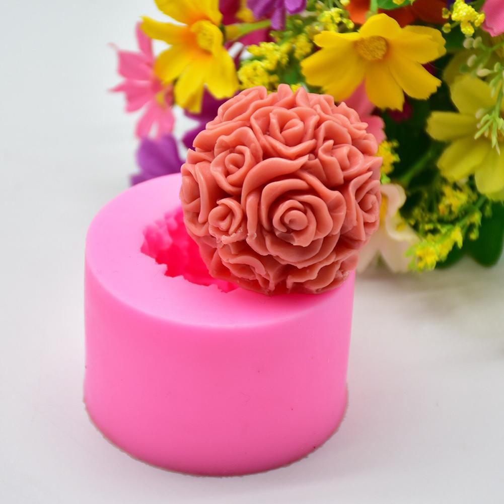 Big Bouquet Rose Silicone Mold DIY Fondant Cake Mold Handmade Soap Baking Decoration Mold Asy To Release Mold