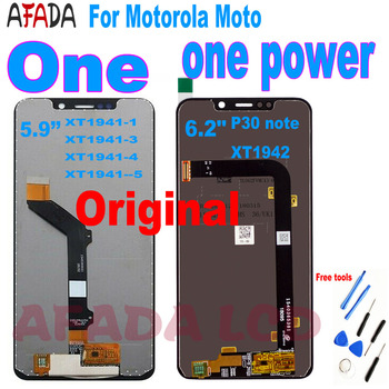 For Motorola Moto One Power (P30 note) XT1942 For Moto One/P30 Play LCD Display Touch Screen Assembly XT1941-1 XT1941-3 XT1941-4 image