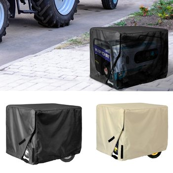 Generator Cover Waterproof Storage Case Protect Square 600D Waterproof Windproof for Patio Firepit Furniture image