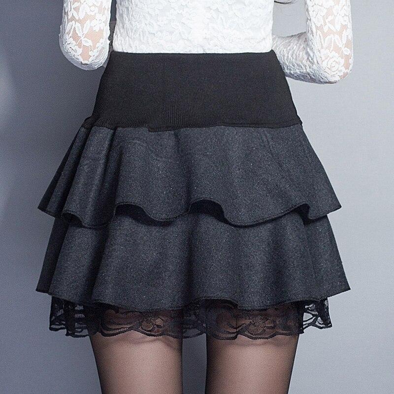 Παχιά φούστα μαλλιού Γυναίκες - Γυναικείος ρουχισμός - Φωτογραφία 2