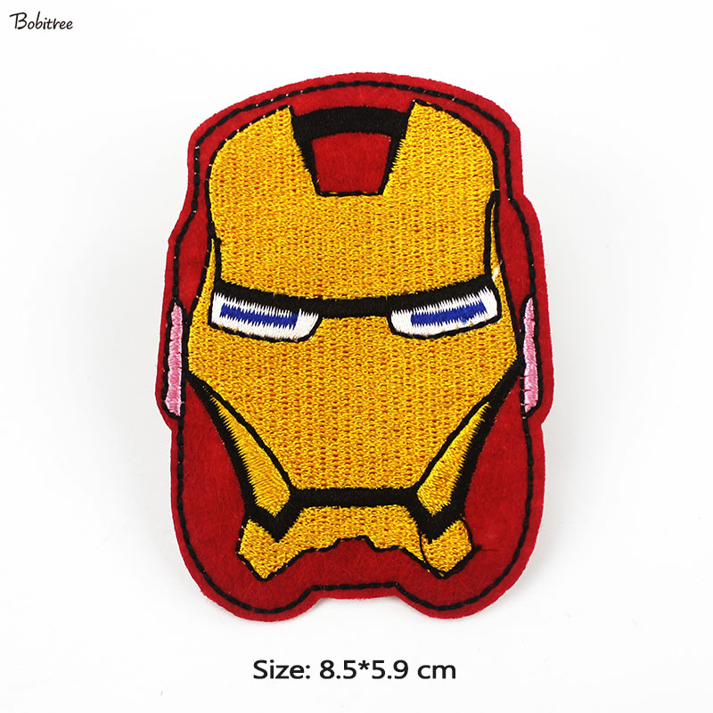 Avengers Super Hero <font><b>Ironman</b></font> <font><b>Patches</b></font> Iron on for Cloth Jackets backpack DIY Embroidered Badges Stickers Sewing Supplies image