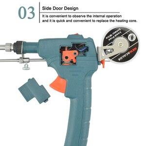 Image 4 - Newacalox 220v 60w ue enviar automático pistola de lata estação retrabalho ferro solda elétrica bomba desoldering ferramenta solda fio