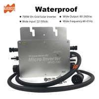 Sans fil IP65 700W MPPT sur l'inverseur solaire Micro de grille, 22-50VDC à 80-260VAC, 50hz 60hz auto, réalisable pour le panneau solaire 2x350 W.