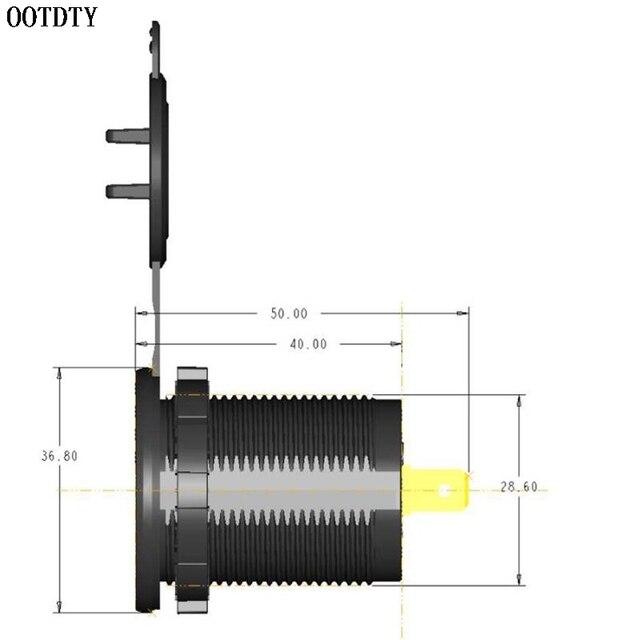 12 V/24 V 18W étanche double QC3.0 USB chargeur rapide prise de courant avec LED voltmètre numérique pour voiture Marine bateau camion