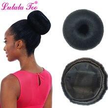 Большой шиньон роллер в виде пончика парик для женщин Синтетические